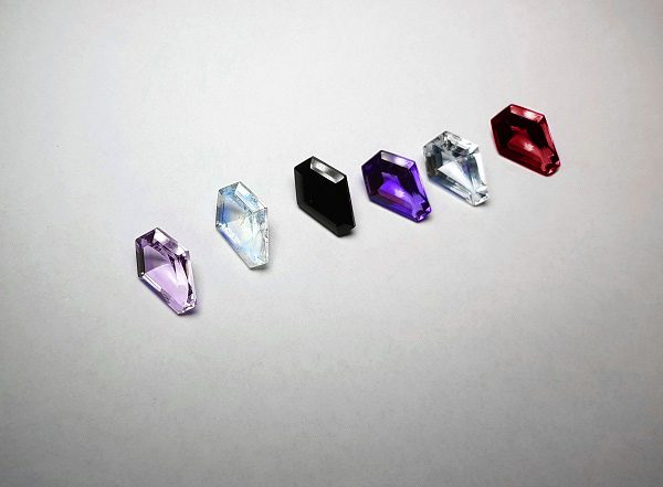 Coffin cut gemstones 2