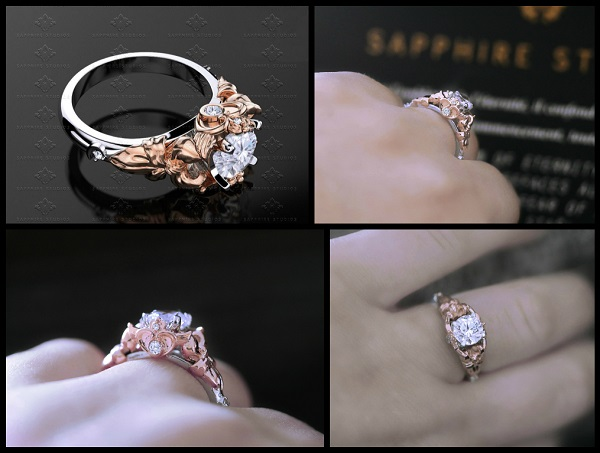 studios ring yellow sailormoon moon diamond product white rose gold sm products rings engagement whiteyellowrose sailor sapphire