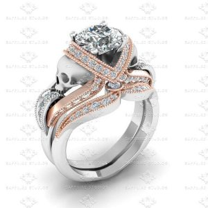 aphrodite-diamond-white-rose-gold-skull-bridal-set -A2