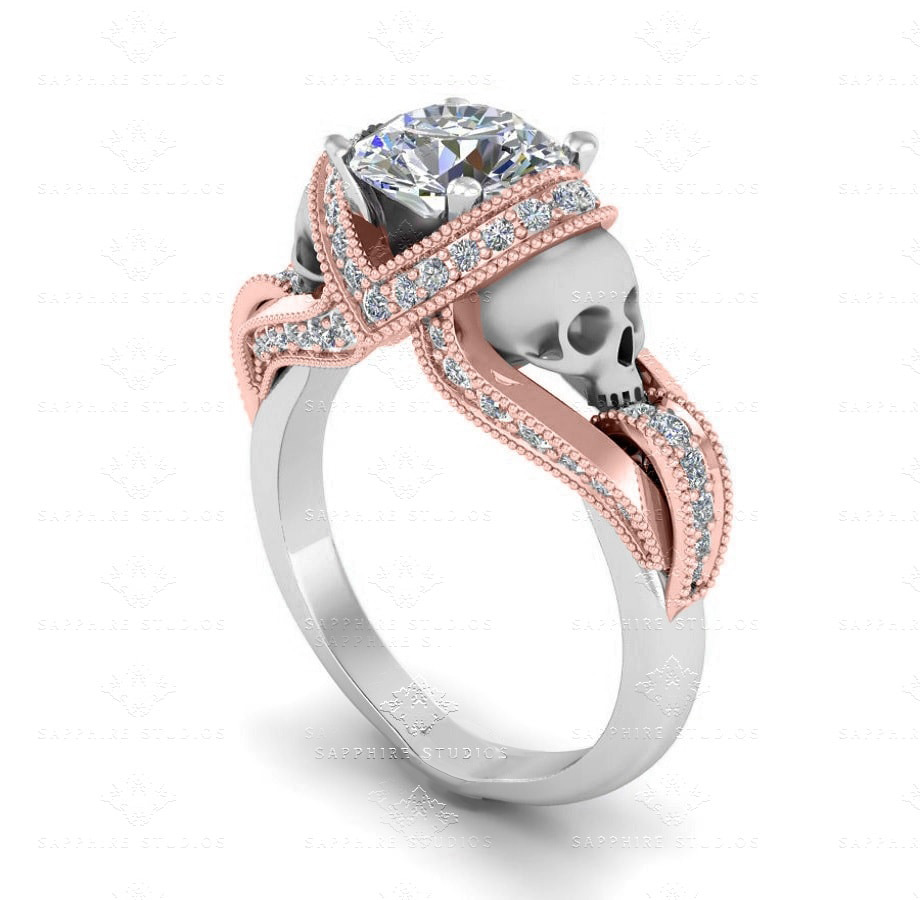i diamond rose gold morganite ring engagement vintage carat rings h