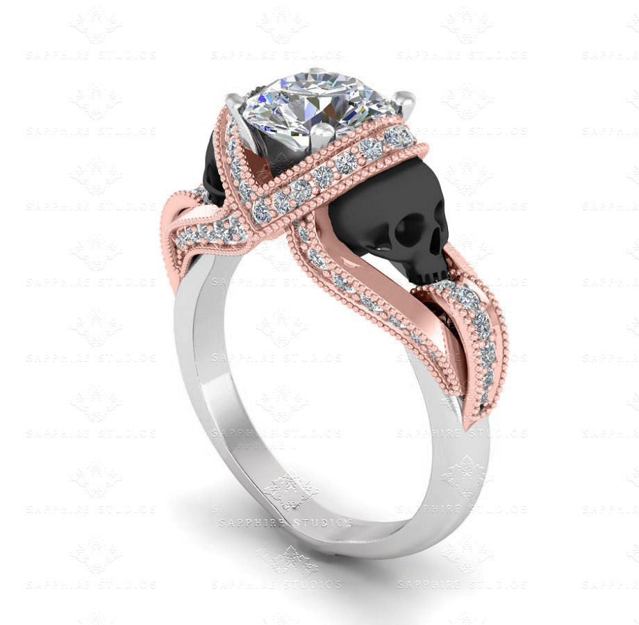Ct White Gold Diamond And Sapphire Ring