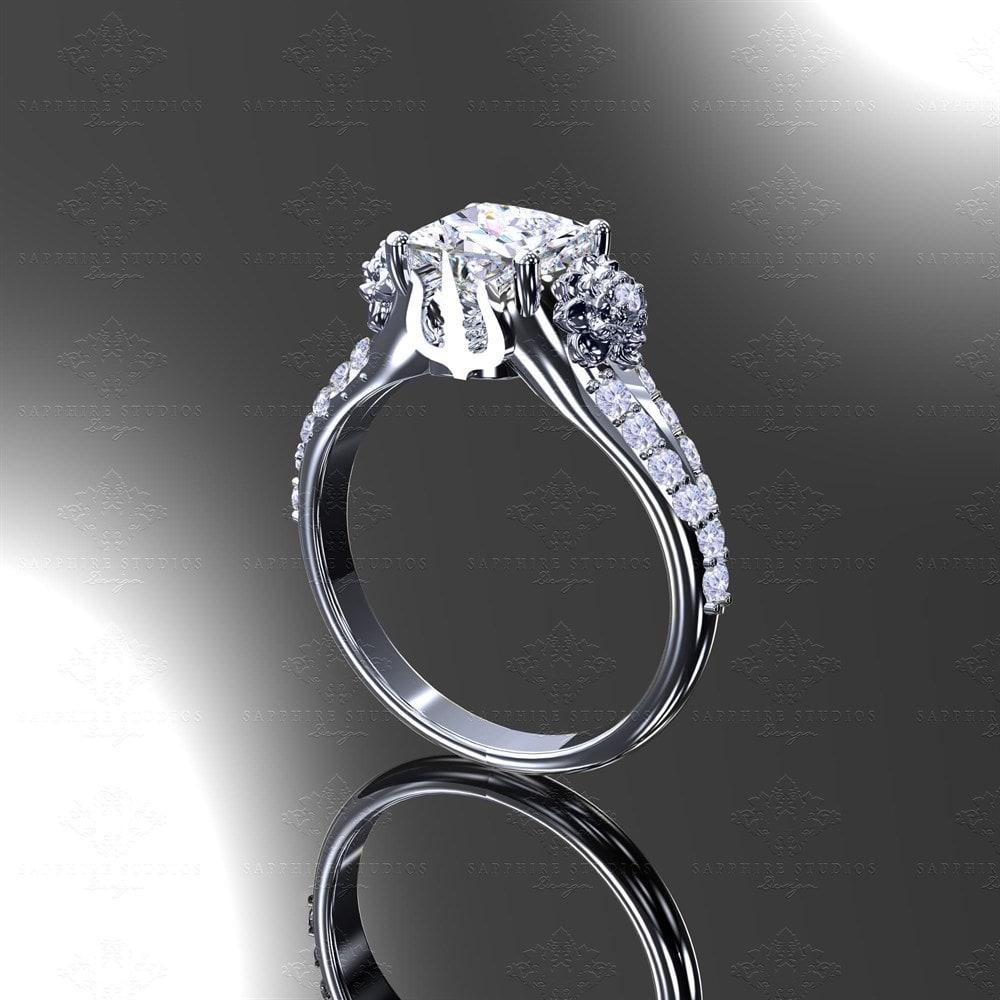 Eternal White Gold Inspired Final Fantasy Engagement Ring