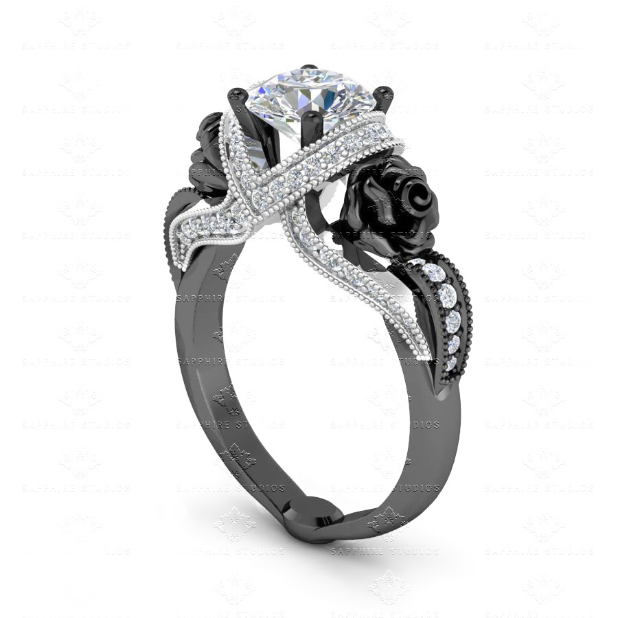 jewelry dp com amazon triple princess band engagement jewellery stone ring rings center wedding sterling cz silver cut dtla