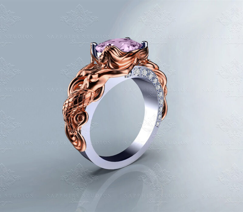 le-reve-cushion-cut-morganite-rose-gold-mermaid-ring (6) sm