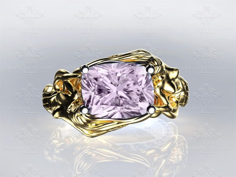 le-reve-cushion-cut-morganite-yellow-gold-mermaid-ring