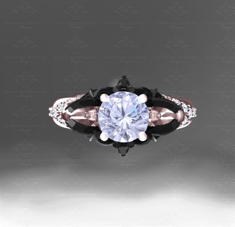moonlight-1-40ct-rose-gold-bat-and-skull-engagement-ring (2)