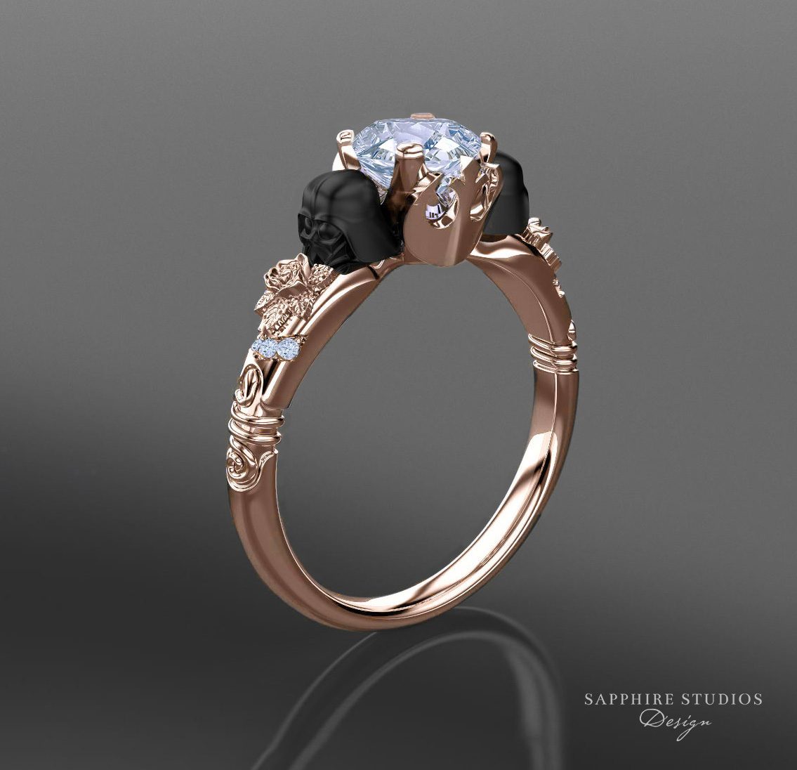 Prevail 135ct Rose Gold Inspired Star Wars Engagement Ring