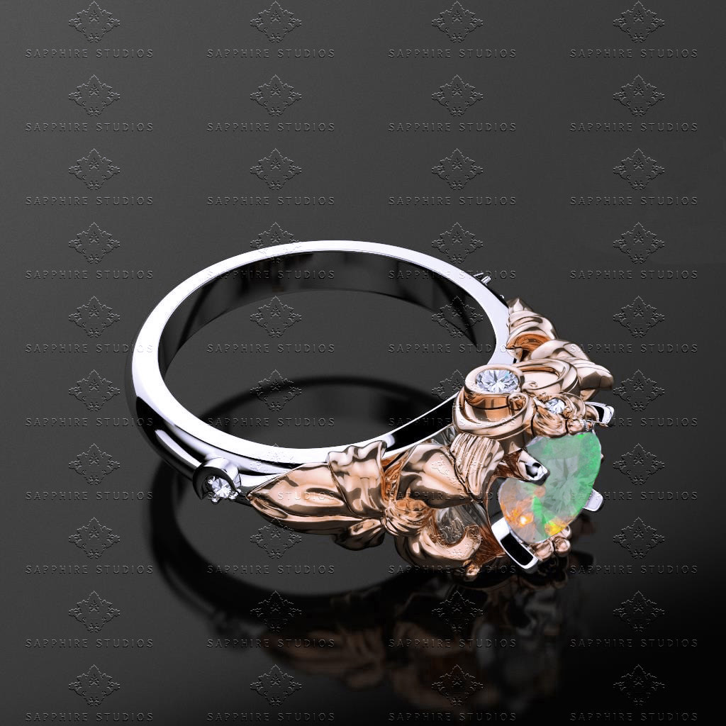 etsy most engagement natural from australian opal rings unique