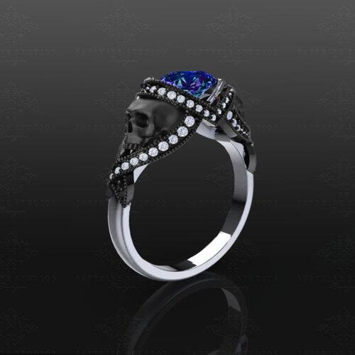 st-noir-alexandrite-black-white-gold-engagement-ring