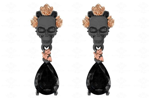 zaire-black-gold-drop-skull-earrings (4)
