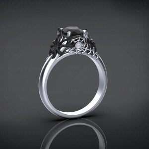 aranea-natural-black-diamond-white-gold-spider-engagement-ring (2)