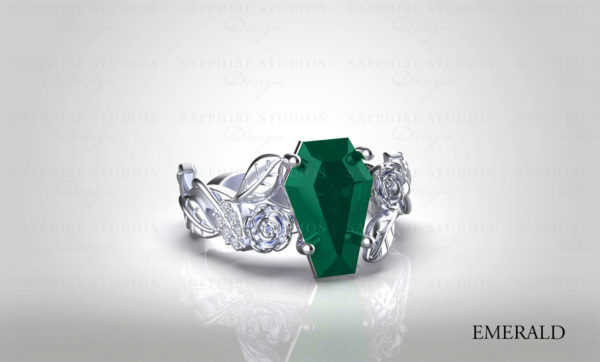 lileve-natural-emerald-coffin-cut-diamond-gold-floral-flower-engagement-ring