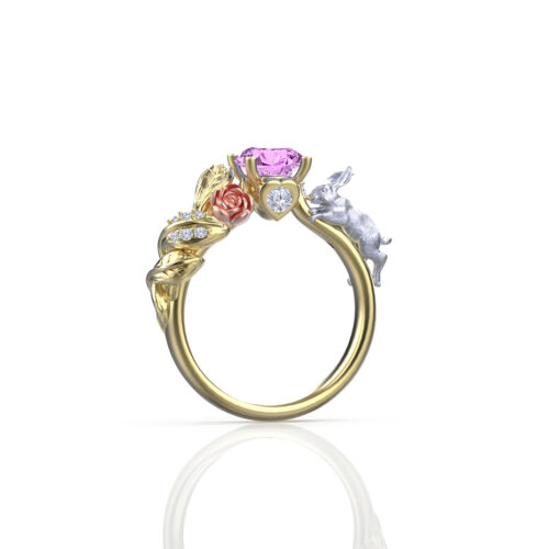 alice-in-wonderland-pink-sapphire-yellow-gold-rabbit-ring
